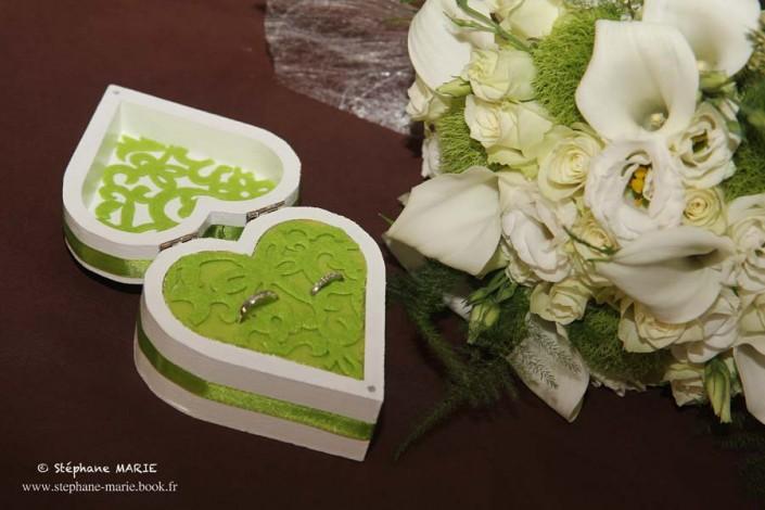 Bouquet et boite alliance wedding planner normandie