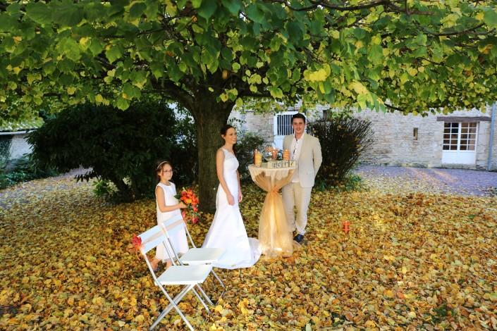 Cérémonie laïque automne Normandie