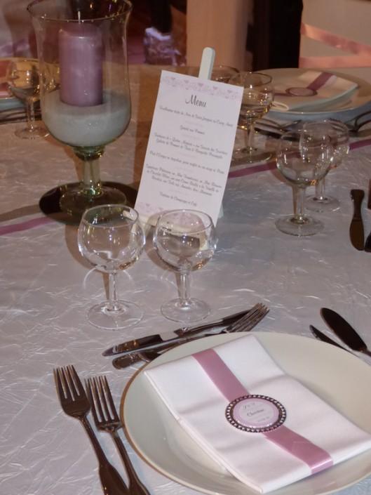 Décoration de table romantique chic Bergerie Doux Marais