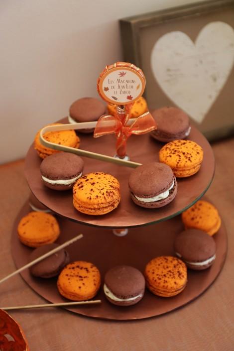 Macarons pour mariage d'automne