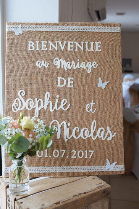 Décoration mariage champêtre jute salle calvados héra normandie