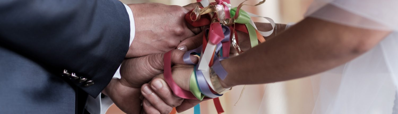 Rituel des mains liées rubans handfasting